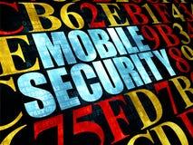 Concepto de la seguridad: Seguridad móvil en Digitaces Imagen de archivo