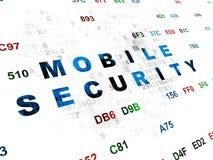 Concepto de la seguridad: Seguridad móvil en Digitaces Imagen de archivo libre de regalías