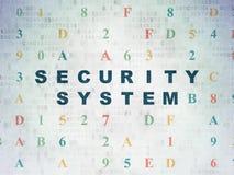 Concepto de la seguridad: Sistema de seguridad en el papel de Digitaces Imagenes de archivo