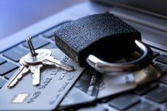 Concepto de la seguridad de la tarjeta de crédito fotos de archivo libres de regalías