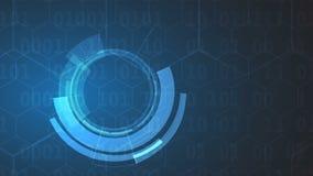 Concepto de la seguridad de la tecnología Fondo digital de la seguridad moderna almacen de metraje de vídeo