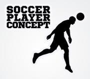 Concepto de la silueta del futbolista del fútbol Imagen de archivo libre de regalías