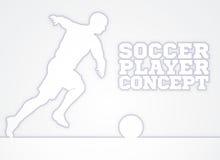 Concepto de la silueta del jugador de fútbol Imágenes de archivo libres de regalías