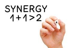 Concepto de la sinergia Foto de archivo