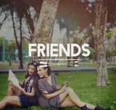 Concepto de la sociedad de los colegas de la amistad de los amigos fotografía de archivo