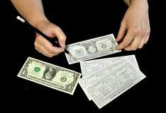Concepto de la solución de la crisis financiera Imagen de archivo libre de regalías