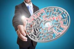 Concepto de la solución del hombre de negocios Imagen de archivo libre de regalías