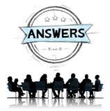 Concepto de la sugerencia de la opinión de la pregunta de la explicación de las respuestas stock de ilustración