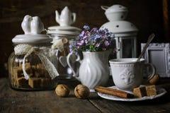 Concepto de la tabla de té del vintage Fotografía de archivo libre de regalías