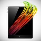 Concepto de la tableta: líneas abstractas Fotografía de archivo