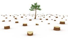 Concepto de la tala de árboles Imágenes de archivo libres de regalías