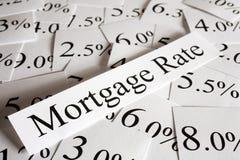Concepto de la tarifa de hipoteca Foto de archivo