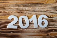 Concepto de la tarjeta de felicitaciones del Año Nuevo Fecha blanca Foto de archivo
