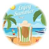 Concepto de la tarjeta de las vacaciones y de verano Foto de archivo