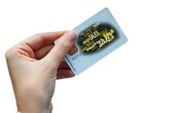 Concepto de la tarjeta de las ventas imagenes de archivo
