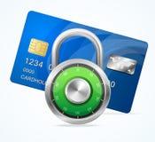 Concepto de la tarjeta de seguridad. Candado del vector Foto de archivo libre de regalías