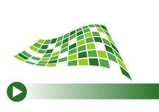 Concepto de la tarjeta de visita en verde Ilustración del Vector