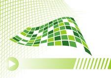 Concepto de la tarjeta de visita en verde con la red Libre Illustration