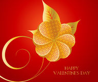 Concepto de la tarjeta del día de San Valentín Foto de archivo