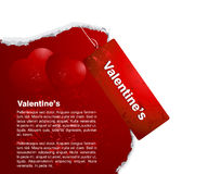 Concepto de la tarjeta del día de San Valentín Fotos de archivo
