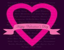 Concepto de la tarjeta del día de tarjetas del día de San Valentín Imágenes de archivo libres de regalías