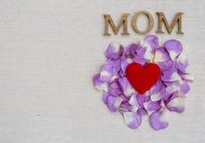 Concepto de la tarjeta del día del ` s de la madre Imágenes de archivo libres de regalías