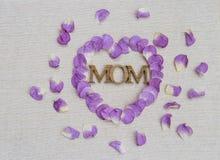Concepto de la tarjeta del día del ` s de la madre Fotos de archivo