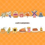 concepto de la tarjeta de felicitación de la acción de gracias Aviador del anuncio del día de fiesta del estilo de Minimalistic Foto de archivo libre de regalías