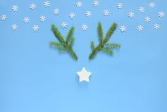 Concepto de la tarjeta de felicitación de los días de fiesta de la Navidad o del Año Nuevo Fotografía de archivo libre de regalías