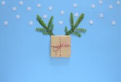 Concepto de la tarjeta de felicitación de los días de fiesta de la Navidad o del Año Nuevo Imágenes de archivo libres de regalías