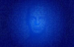 Concepto de la tecnología de la cara del código binario stock de ilustración