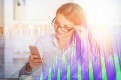 Concepto de la tecnología, de la comunicación y de las finanzas imagen de archivo