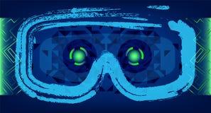 Concepto de la tecnología con Hud, Gui Design Elements Cabeza-para arriba Displa ilustración del vector