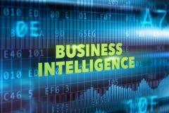 Concepto de la tecnología de la inteligencia empresarial Fotografía de archivo
