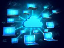 Concepto de la tecnología de la nube Imagen de archivo