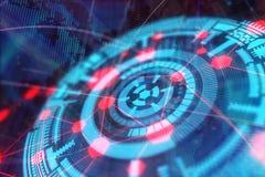 Concepto de la tecnología, del futuro, de los medios y del web fotografía de archivo libre de regalías
