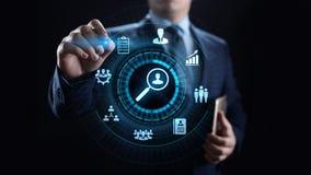 Concepto de la tecnología del negocio del analytics de la medida de la evaluación de la evaluación stock de ilustración