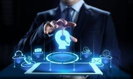 Concepto de la tecnología del negocio de la garantía de calidad del servicio de atención al cliente de la ayuda stock de ilustración
