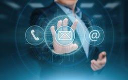 Concepto de la tecnología del negocio de Internet del servicio de atención al cliente del centro de soporte técnico fotografía de archivo
