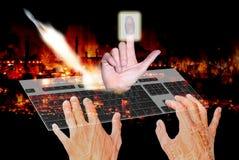 Concepto de la tecnología espacial de la seguridad Foto de archivo libre de regalías