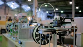 concepto de la tecnología de la impresión 3D almacen de video