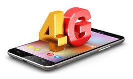 concepto de la tecnología inalámbrica de 4G LTE stock de ilustración