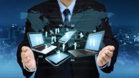 Concepto de la tecnología de la información de Internet imagen de archivo