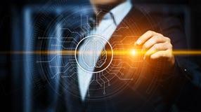 Concepto de la tecnología de Internet del negocio del aprendizaje de máquina de la inteligencia artificial foto de archivo