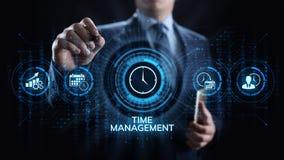 Concepto de la tecnología de Internet del negocio del planeamiento de proyecto de la gestión de tiempo foto de archivo libre de regalías