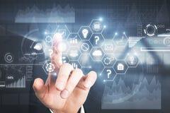Concepto de la tecnología, de las finanzas y de la comunicación imagen de archivo libre de regalías