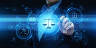 Concepto de la tecnología de Legal Business Internet del abogado de la ley laboral imagen de archivo libre de regalías