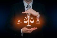 Concepto de la tecnología de Legal Business Internet del abogado de la ley laboral foto de archivo