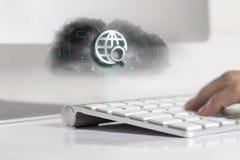 Concepto de la tecnología de la nube Imagenes de archivo
