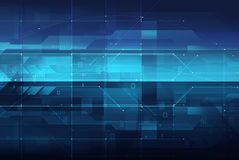 Concepto de la tecnología y circuitos digitales Foto de archivo libre de regalías